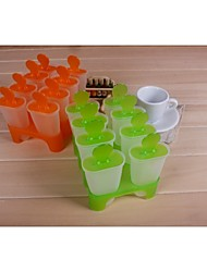 Fashion Ice Cream Modelling Ice Lolly Mold Diy Popsicle Ice Cube Tray Making Tools (Random Color)