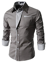 Johnny Men's Casual Shirt Collar Long Sleeve Casual Shirts