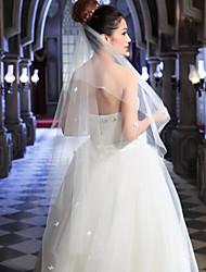 Wedding Veil One-tier Elbow Veils Cut Edge
