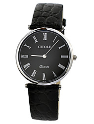 CITLOE Men's Fashion Dress Watch Simple Style Dial Black Leather Band Quartz Watch CT5058GBBW