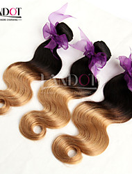 "3Pcs 14-28"" Ombre Peruvian Body Wave Virgin Hair Extensions Two Tone 1B/27 Blonde 6A Remy Human Hair Weave Wavy Bundles"
