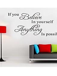 верить в себя домашний декор цитатой наклейки на стены декоративные ADESIVO де Parede съемный стикер стены