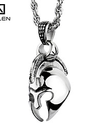 Kalen Men's Jewelry The Gothic Style Superman Skull Pandent Necklace