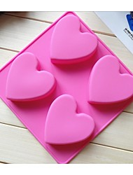 Fashion Ice Chocolate Making Cake Tools Silicone Cake Mold Candy Jelly Soap Modeling Mould (Random Color)