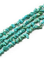"""beadia contas de pedra turquesa 5-8mm forma irregular DIY pérolas soltas ajuste pulseira colar de jóias 34 """"/ str"""