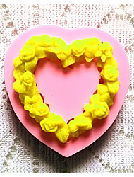 Bakeware Silicone Heart Baking Molds for Fondant Candy Chocolate Cake (Random Colors)