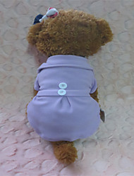 Dog Dress Purple Winter Solid