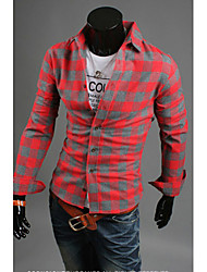 Hot Sell Summer Style 2015 Brand Long-Sleeve Shirt Men Clothes Ropa Hombre