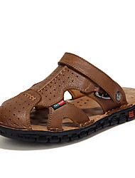 Men's Shoes Casual Leather Sandals Black/Brown/Khaki