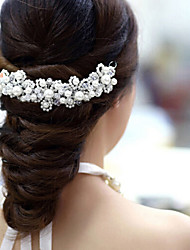 Flower Shape Pearl Hair Flower Bride Hair Wedding Headdress Wedding Accessories One Piece