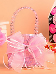 Pink and Blue Wedding Favor Bags  Candy Bags Set of 12