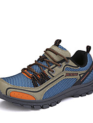 Hiking Men's Shoes Tulle Blue/Brown