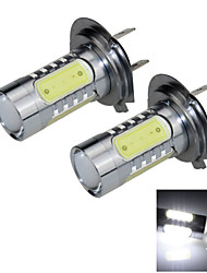 2X 5 COB LED H7 Bulb  White Fog Light Parking Lamp FogLight AC/DC12-24V PX26d H158