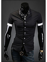 Super Hot Men's Casual Shirt Collar Short Sleeve Casual Shirts