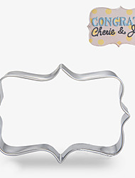 Retangle Blessing Frame Shape Cookie Cutters  Fruit Cut Molds Stainless Steel