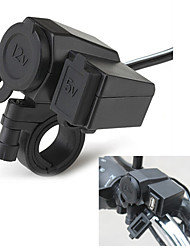 Hot Motorcycle 2.1A Cigarette Lighter USB Phone Power Socket Charger Waterproof