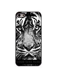 Personalized Gift The Tiger Stare At You Design Aluminum Hard Case for iPhone 4/4S