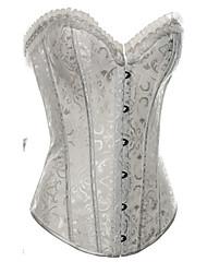 Corset Vêtement de nuit Femme Satin / Spandex Blanc / Noir Aux femmes