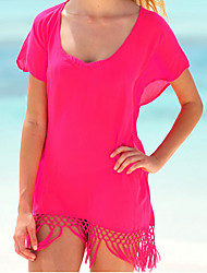 Informell V-Ausschnitt - Kurzarm - FRAUEN - T-Shirts ( Kunstseide )