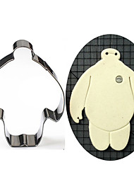 Big Hero 6 Baymax Shape Cookie Cutters, Fuirt Cut Moulds Stainless Steel