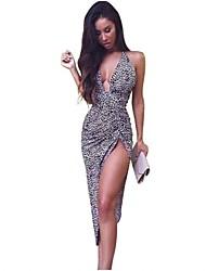 Women's Sexy/Bodycon/Casual/Party/Work Micro-elastic Sleeveless Midi Dress (Cotton Blends)
