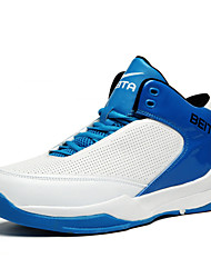 Men's Running/Basketball/Indoor Court Shoes Leather Black/Blue/White
