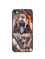 Personalized Gift Lion Protect What is Yours Design Aluminum Hard Case for iPhone 4/4S