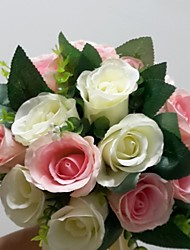 Bouquets ( Rose/Blanc , Satin ) Roses