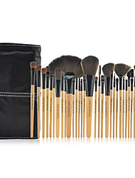 32pcs Natural Color Cosmetic brush Kit Tool Professional Makeup Brushes Set Case Make Up Brush Set