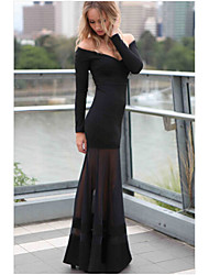 Sexy Women Long-sleeve Cocktail Party Evening Long Maxi Prom Ball Gown Dress