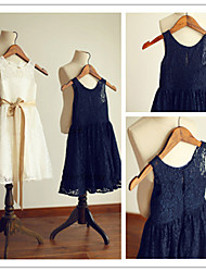 Flower Girl Dress Tea-length A-line Bateau Dress