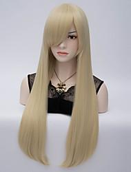Europeus e americanos vento de cabelo final adução de alta temperatura de seda longa peruca de cabelos lisos # 613 c