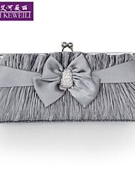 AIKEWEILI®Women's Bag Fashion Bowknot Silk Evening Bag Korean Style All-Match Clutch Bag Lad's Purse