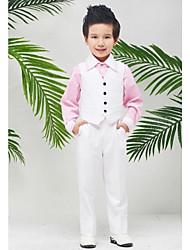 Ring Bearer Suit - 3 Bianco Tessuto uniforme