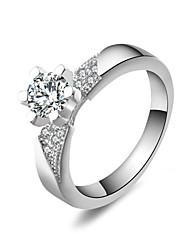 Audrey Women'S Silver Plated Diamond Ring