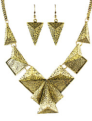 Hot Trends Vintage Style Geometric Shaped Fashion Jewelry Set