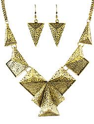 Hot Trends Vintage Style Geometric Shaped Fashion Jewelry Set