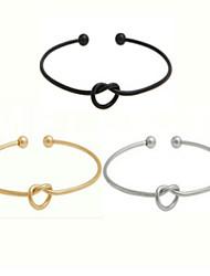 European Style Simple Brass Knot Bracelet Cuff Bracelets