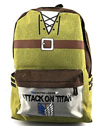 Bolsa Inspirado por Attack on Titan Fantasias Anime Acessórios de Cosplay Bolsa / mochila Amarelo Náilon / PVC Masculino / Feminino
