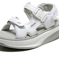 Zapatos de mujer - Plataforma - Comfort - Sandalias - Oficina y Trabajo / Casual / Fiesta y Noche - Sintético - Rosa / Blanco / Plata