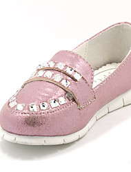 Girls' Shoes Casual Closed Toe Faux Leather Flats Pink