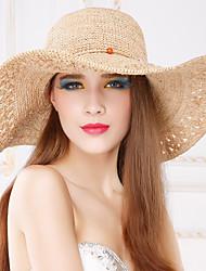 Femme Vannerie Casque-Décontracté / Extérieur Chapeau 1 Pièce Head circumference 57cm