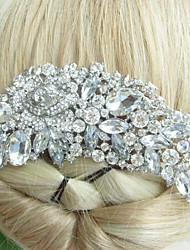 Wedding Hair Accessories Silver-tone Clear Rhinestone Crystal Bridal Hair Comb Bridal Headpiece Flower Hair Comb