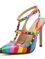 Women's Shoes Stiletto Heel Pointed Toe Pumps Dress Multi-color