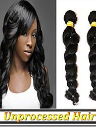 3pcs 8 '' - 34''no excrétion enchevêtrement vierge de cheveux russe naturelle noir profond remy de vague lâche les cheveux de trame libre