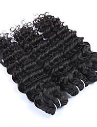 "3Pcs/Lot+10""-30""+Indian(Italian)Virgin Remy Human Hair+ color(natural black)+ Deep wave"