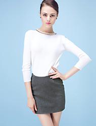 Jupes Aux femmes Mini Sexy/Soirée/Travail Laine/Coton Non Elastique