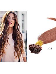 """1pc / lot 18 """"-30"""" 1g / strand 100g / pc pro-gebundenen i-spitzen Haarverlängerung # 33 Stockhaarverlängerung brasilianische reine"""