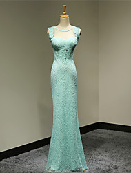 Sheath / Column Sweetheart Floor Length Lace Formal Evening Dress with Lace
