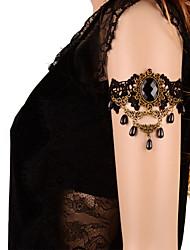 Bracelet Tennis Corde Obsidienne Femme